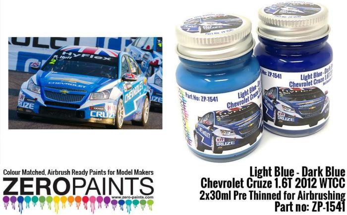 LIGHT BLUE – DARK BLUE CHEVROLET CRUZE 1.6T 2012 WTCC 2x30mL  ZP-1541