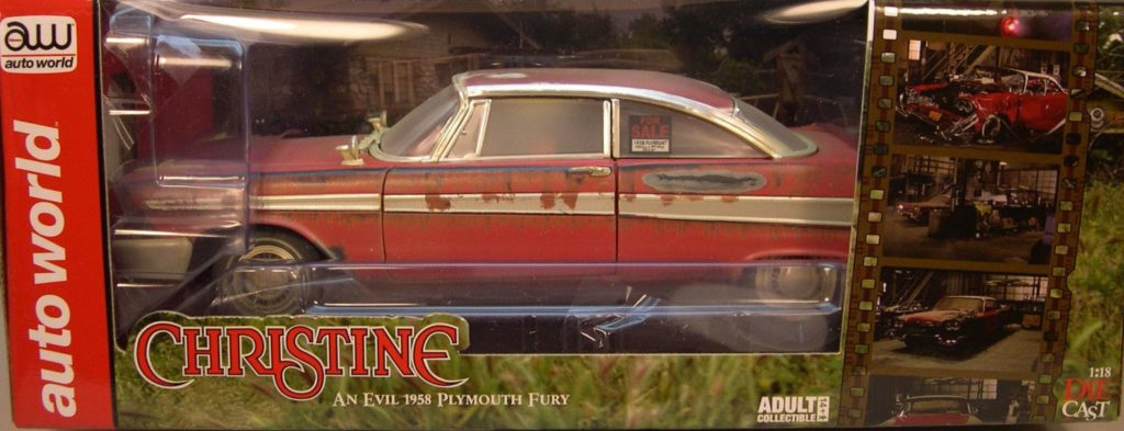 AUTOWORLD PLYMOUTH FURY 1958 – CHRISTINE DIRTY VERSION , THE BEGINNING  1/18