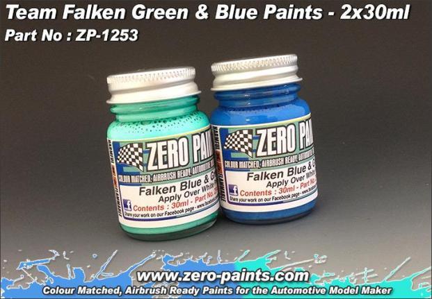TEAM FALKEN – GREEN & BLUE SET 2x30ml  ZP-1253