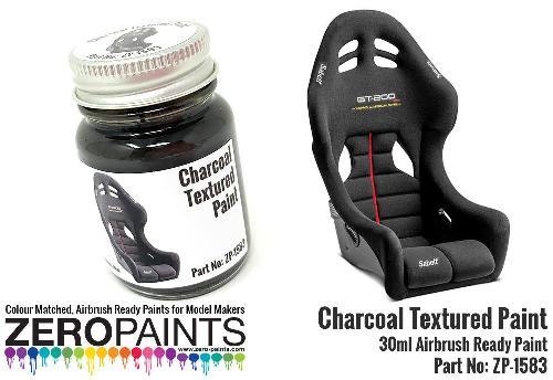 CHARCOAL TEXTURED PAINT  60ml  ZP-1583
