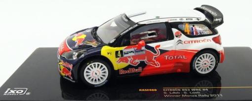 IXO  CITROEN DS3 WRC WINNER MONZA RALLY 2011 S.LOED  1/43