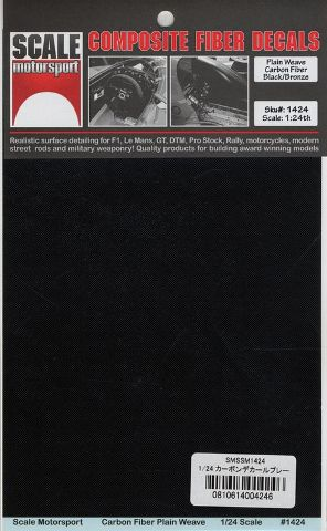 SCALE MOTORSPORT – CARBON FIBER DECAL  1/24  SKU1424