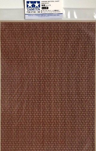 BRICKWORK – DIORAMA MATERIAL SHEET 297mm x 210mm  87168
