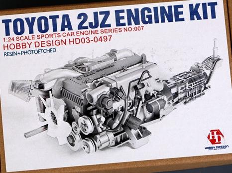 HOBBY DESIGN TOYOTA 2JZ ENGINE KIT 1/24  HD03-0497