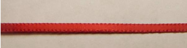 SEAT BELT FABRIC – RED 2mm x 1m