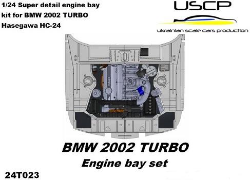 BMW 2002 TURBO – ENGINE + ENGINE BAY SET  1/24  24T023