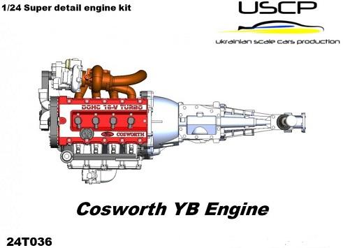 FORD COSWORTH YB ENGINE KIT  1/24  24T036