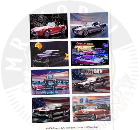 MR.MODEL – CAR POSTERS  1/24 – 1/25  MM5004