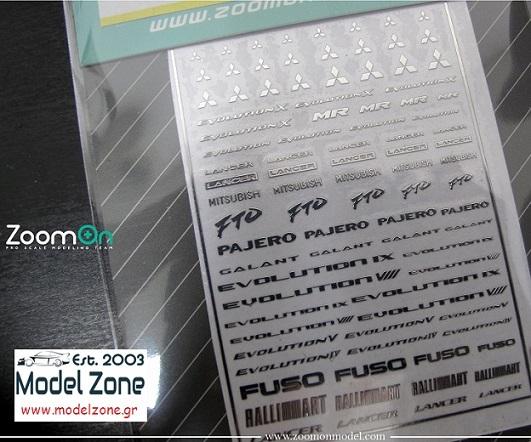 MITSUBISHI LOGO – METAL STICKER 1/24 + 1/43  ZD020
