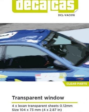 TRANSPARENT WINDOW – 4×0.12mm SHEETS 104x73mm DCL-VAC016