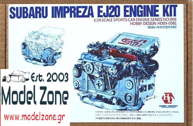 HOBBY DESIGN – SUBARU IMPREZA EJ20 ENGINE KIT 1/24  HD03-0381