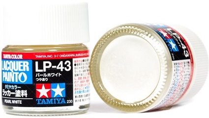 LACQUER PAINT – PEARL WHITE LP-43 10ml