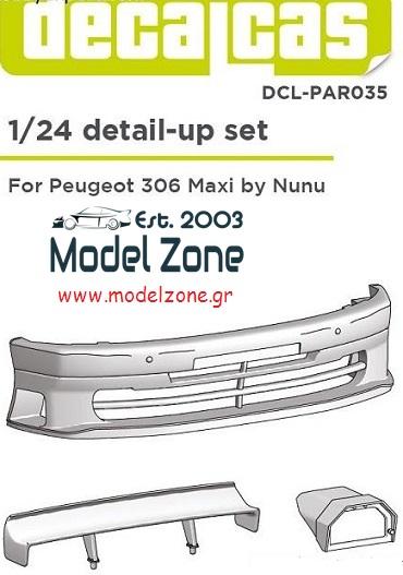 PEUGEOT 306 MAXI – DETAIL UP SET 1/24  PCL-PAR035