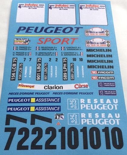 RENAISSANCE DECALS – PEUGEOT 306 MAXI PEUGEOT FRANCE TOUR DE CORSE 1996 1/24  TK24/475