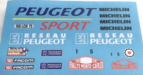 RENAISSANCE DECALS – PEUGEOT 306 MAXI MONTE CARLO 1996 1/24  TK24/476