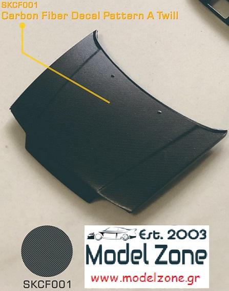SK DECALS – CARBON FIBER PATTERN A TWILL  SKCF001 190 x 130mm