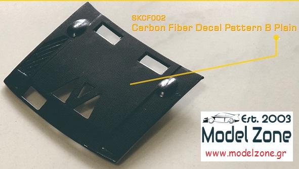 SK DECALS – CARBON FIBER PATTERN-B PLAIN  CKCF002  190 x 130mm
