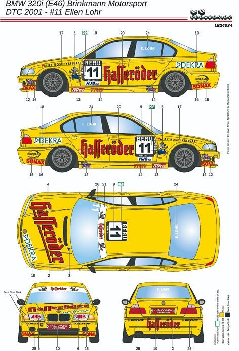 LB PRODUCTION – BMW 320i (E46) DTC 2001 #11  1/24  LB24034
