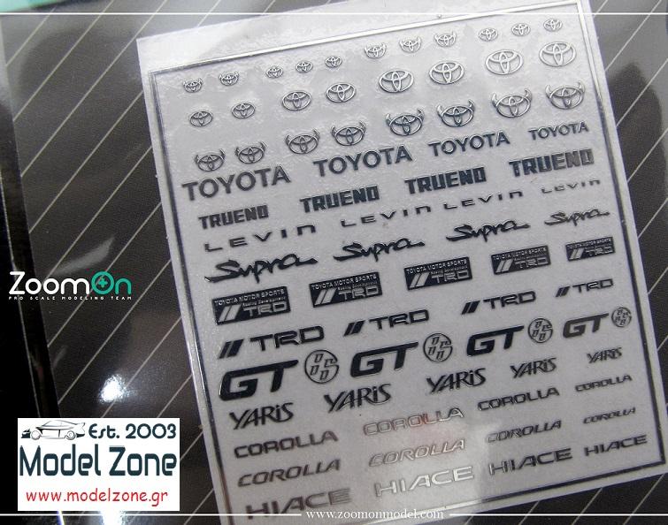 TOYOTA LOGO – METAL STICKER 1/24 + 1/43 ZD026