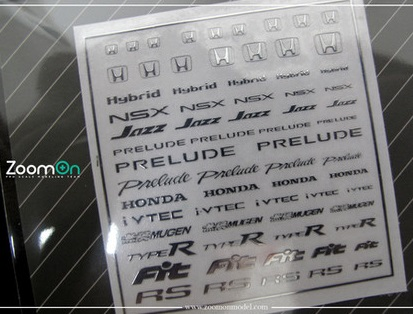 HONDA LOGO – METAL STICKER 1/24 + 1/43 ZD030