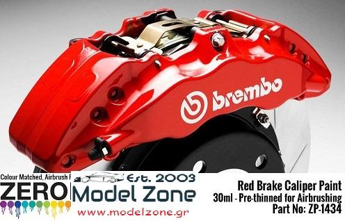 BRAKE CALIPER RED  30ml  ZP-1434