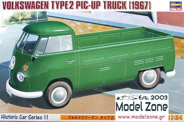 VOLKSWAGEN TYPE-2 PIC-UP TRUCK 1967  1/24  21211