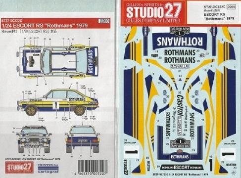 STUDIO27 – ESCORT RS ROTHMANS 1979  ACROPOLIS RALLY  1/24  ST27-DC722C