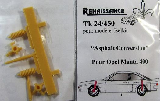 RENAISSANCE – OPEL MANTA 400 ASPHALT CONVERSION  1/24  TK24/450